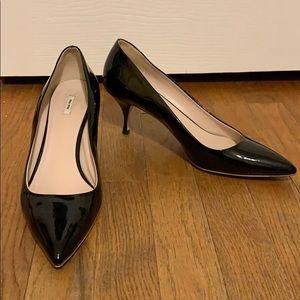 Miu Miu black kitten heels euro 40